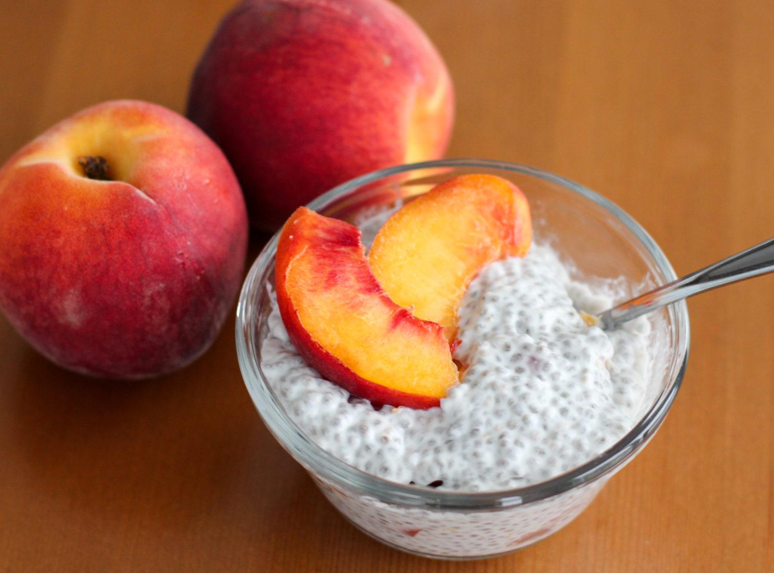Peaches 'n Cream Chia Seed Pudding