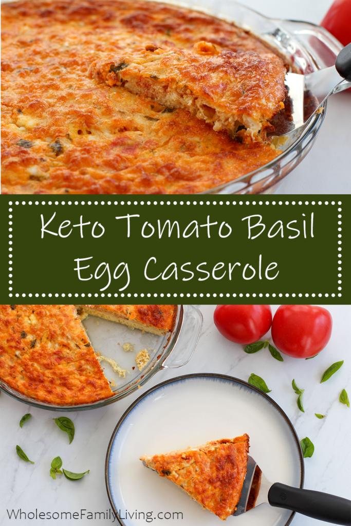 Tomato Basil Egg Casserole Pin