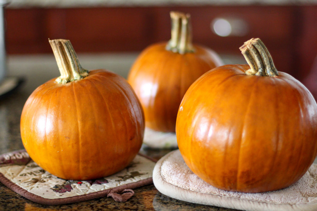 Oven roasted pie pumpkins