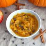Pumpkin dip sprinkled with chocolate chips