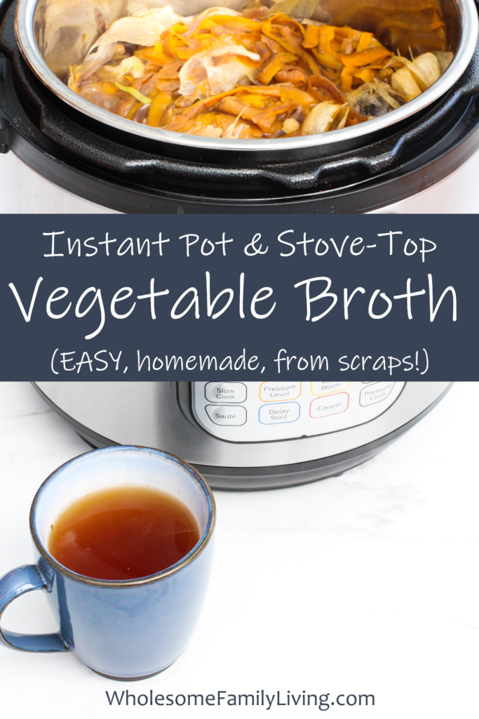 homemade vegetable broth pin