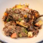 bowl of buttercup squash casserole