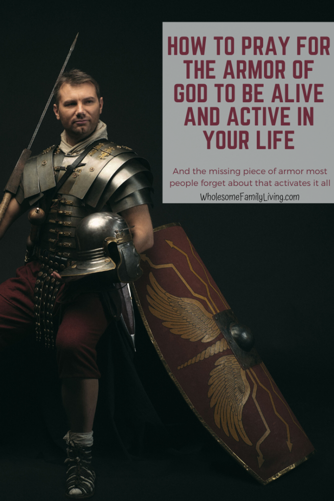 Man wearing Roman armor