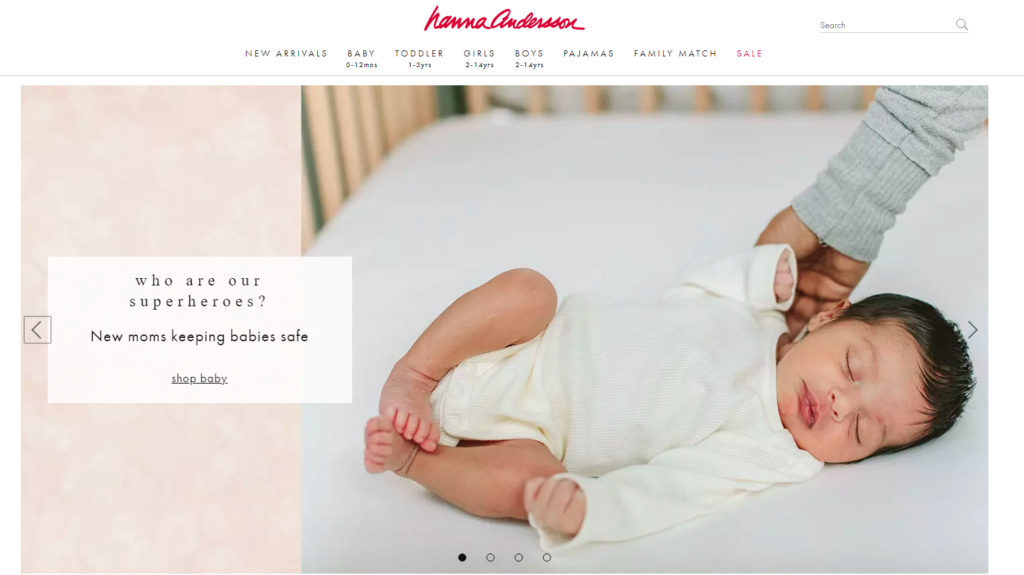 Hannah Anderson Non-Toxic Kids Clothes Website