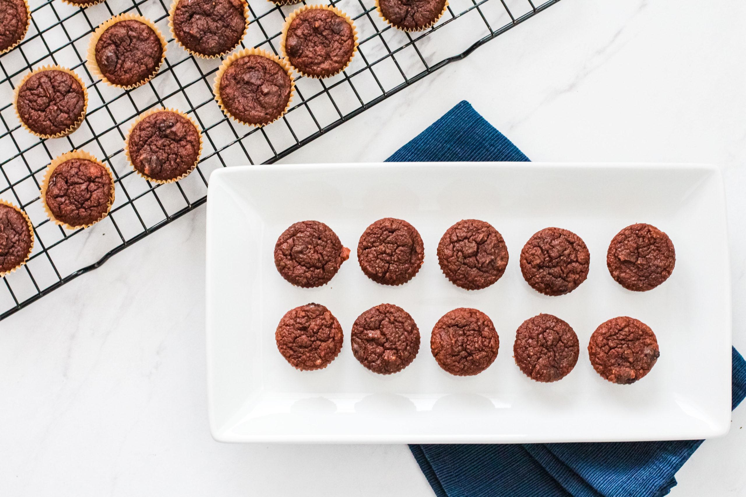 Healthy Chocolate Banana Muffins
