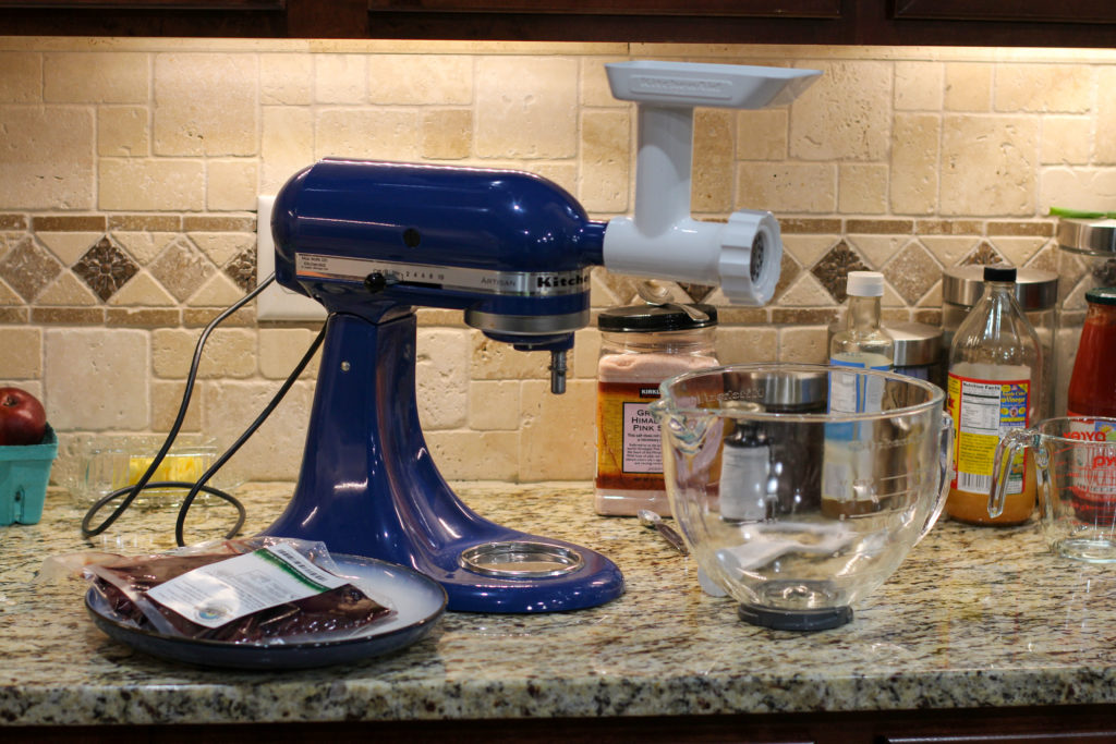 meat grinder attachment on kitchenaid mixer
