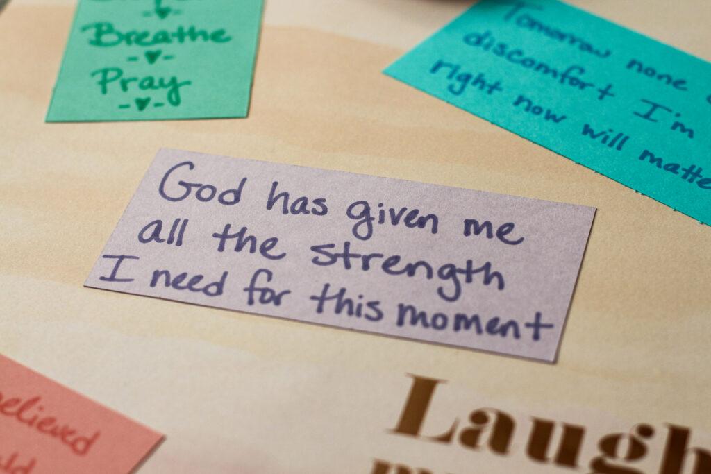 birth scrapbook affirmation for natural birth