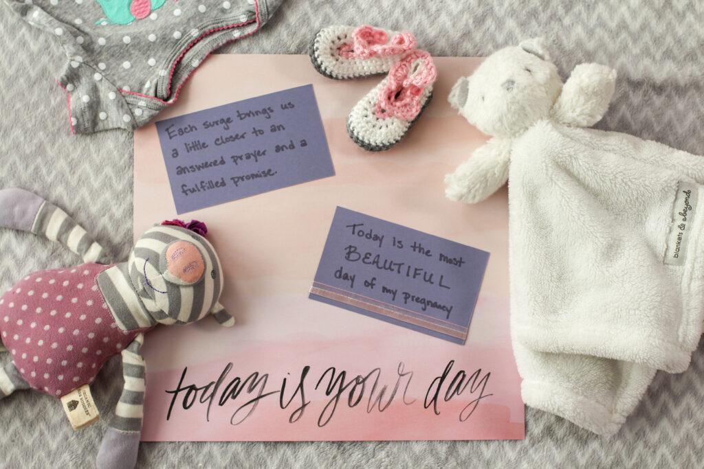 birth scrapbook affirmation for natural childbirth
