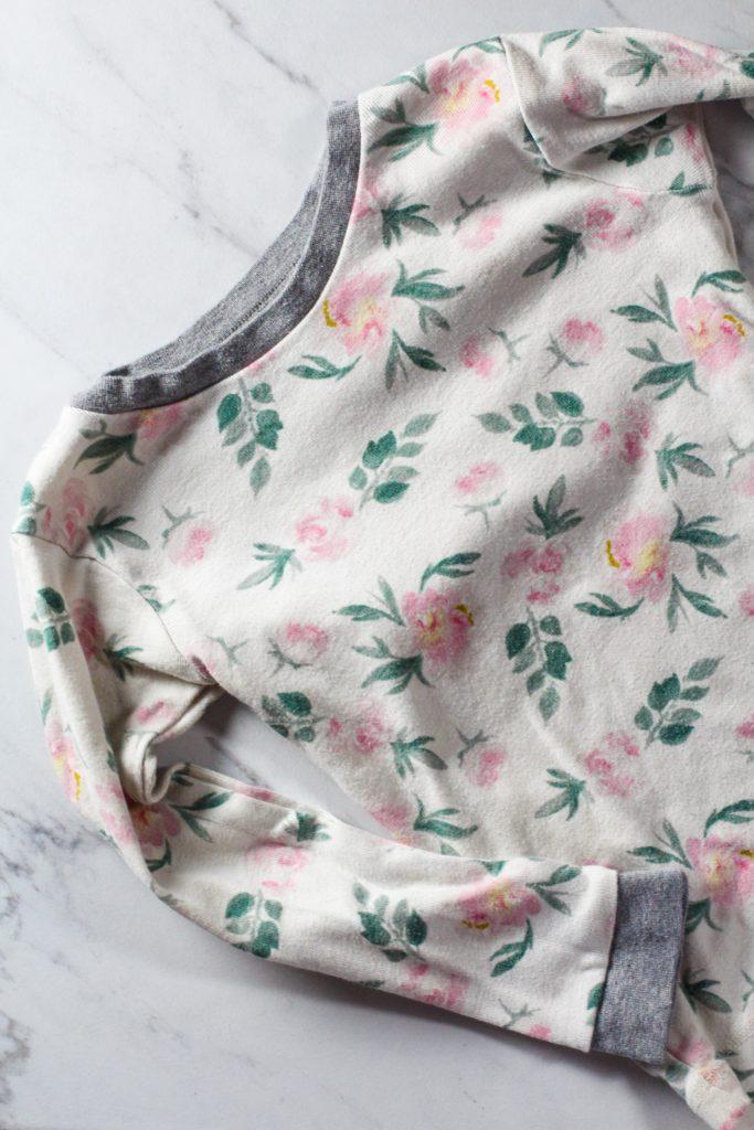 non-toxic kids clothing burts bees floral print pajamas