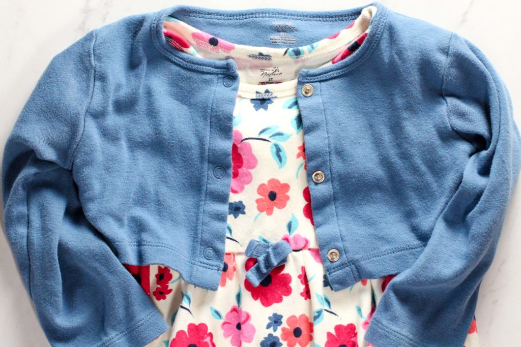 non-toxic kids clothing dress and cardigan from touched by nature