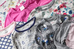 non toxic kids clothes stocked all together