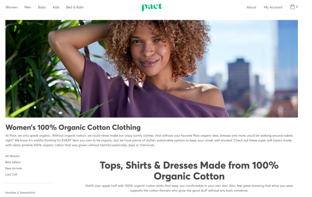 Pact 100 cotton womens