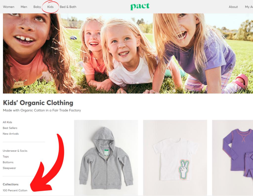 Pact Kids Clothes 100 Percent Cotton