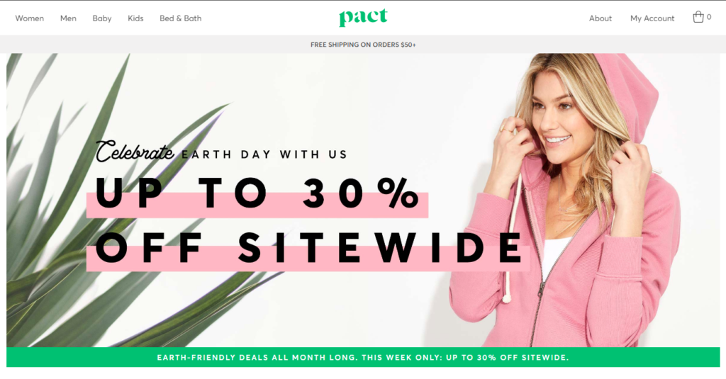 earth day deals at Pact