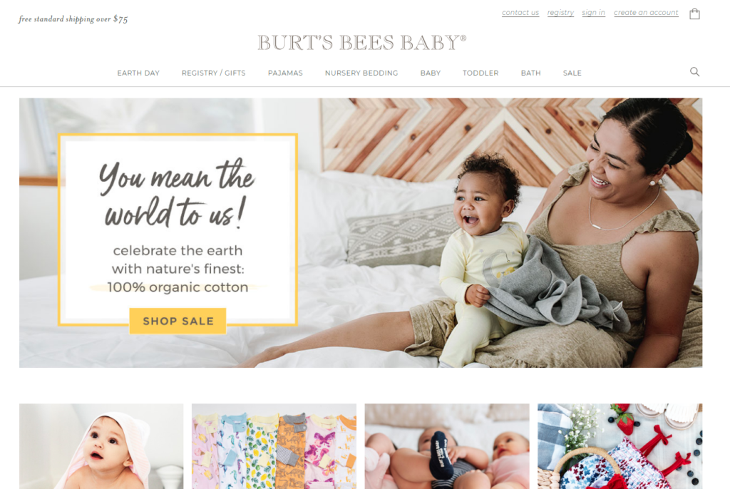 burts bees home page