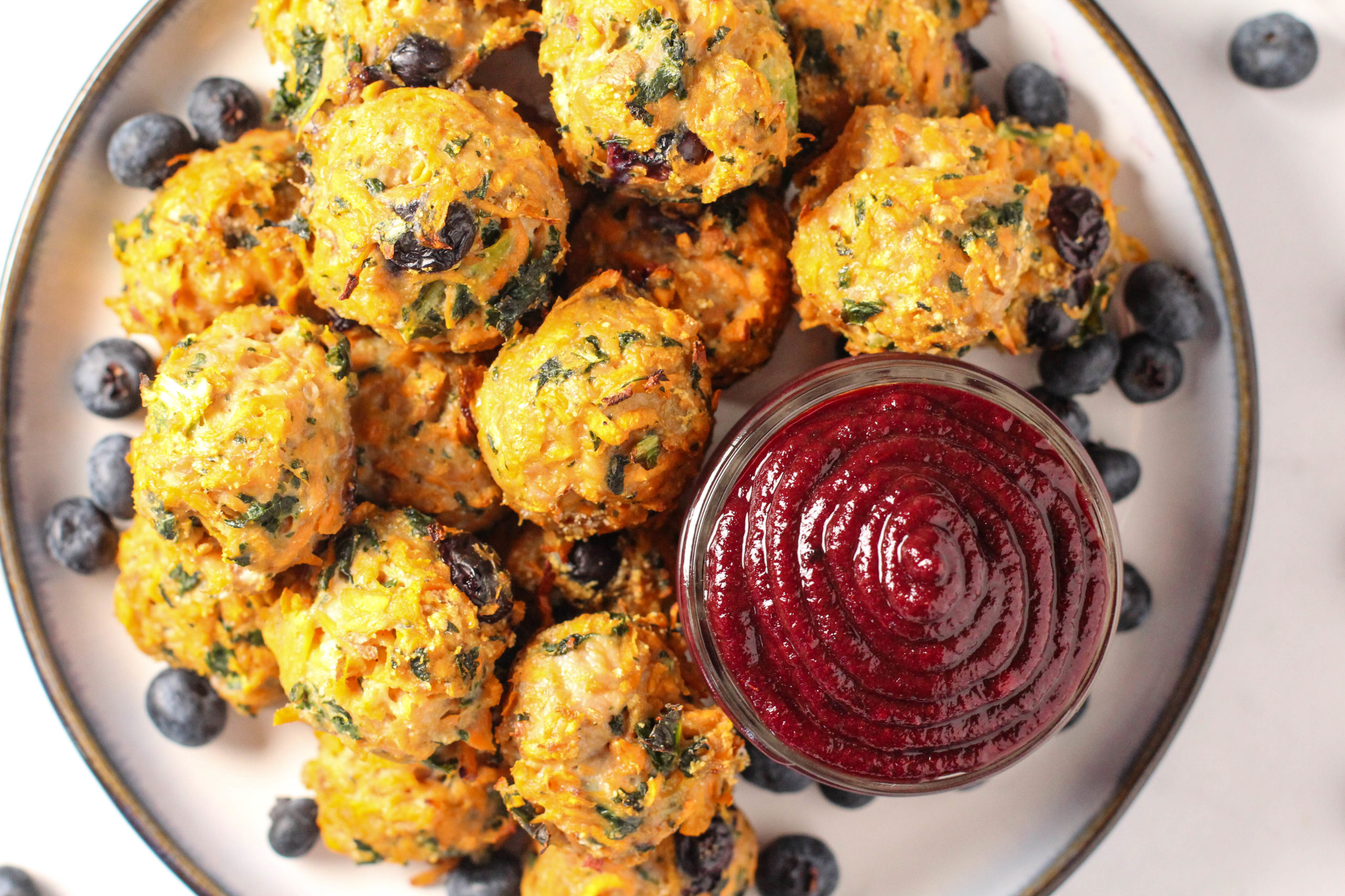 Easy Blueberry Turkey Meatballs {Whole 30, AIP}