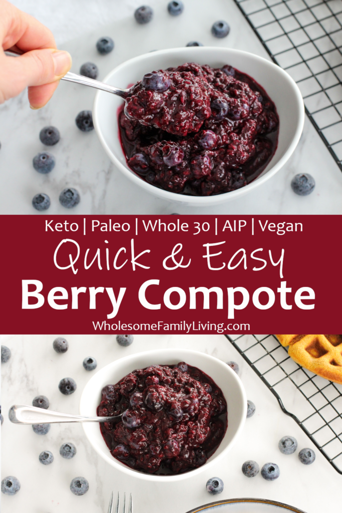 Easy berry compote pin