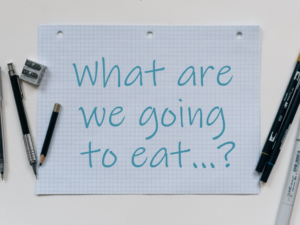 graph paper saying what are we going to eat