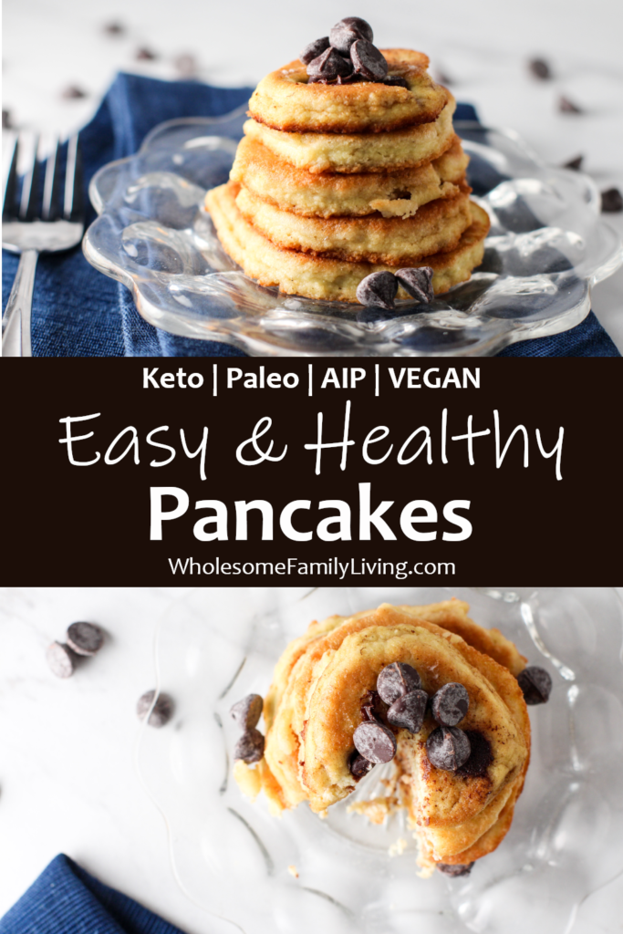 easy healthy pancakes pin