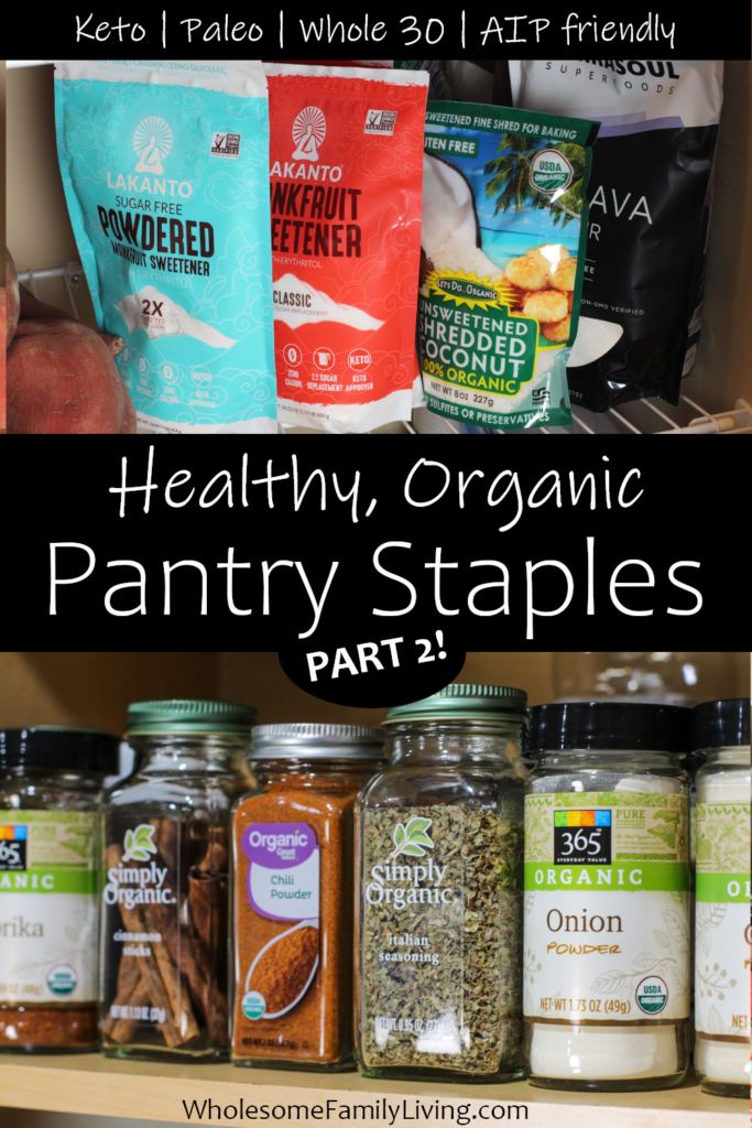 Healthy shelf stable foods part 2 pin