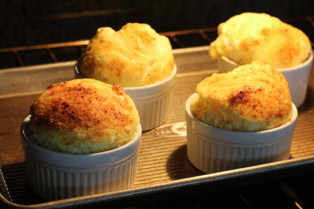 cheese souffles in oven
