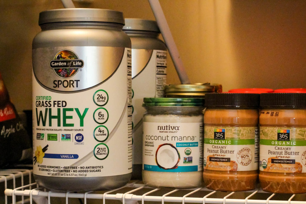 healthy shelf-stable pantry items like peanut butter