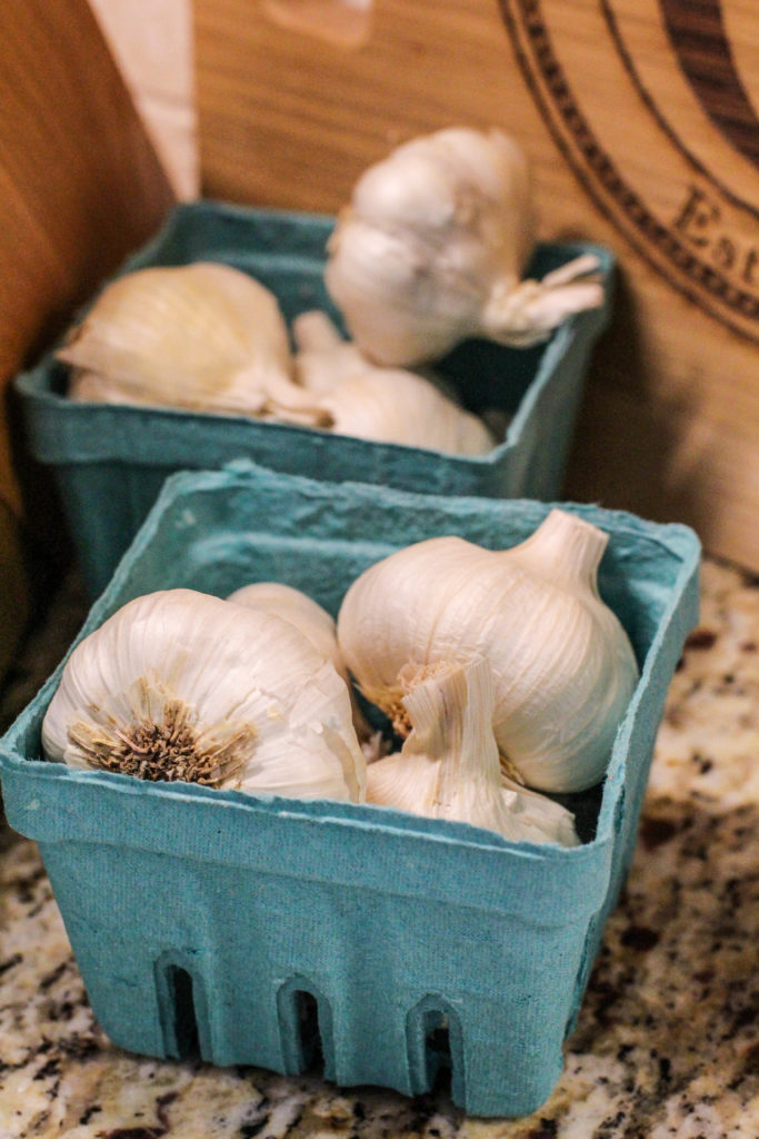 container of shelf-stable garlic