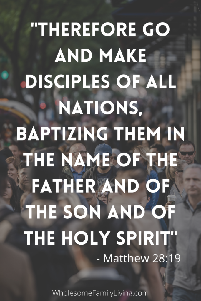 Matthew 28_19 Jesus tells us that his disciples will perform baptism and teach others to obey him