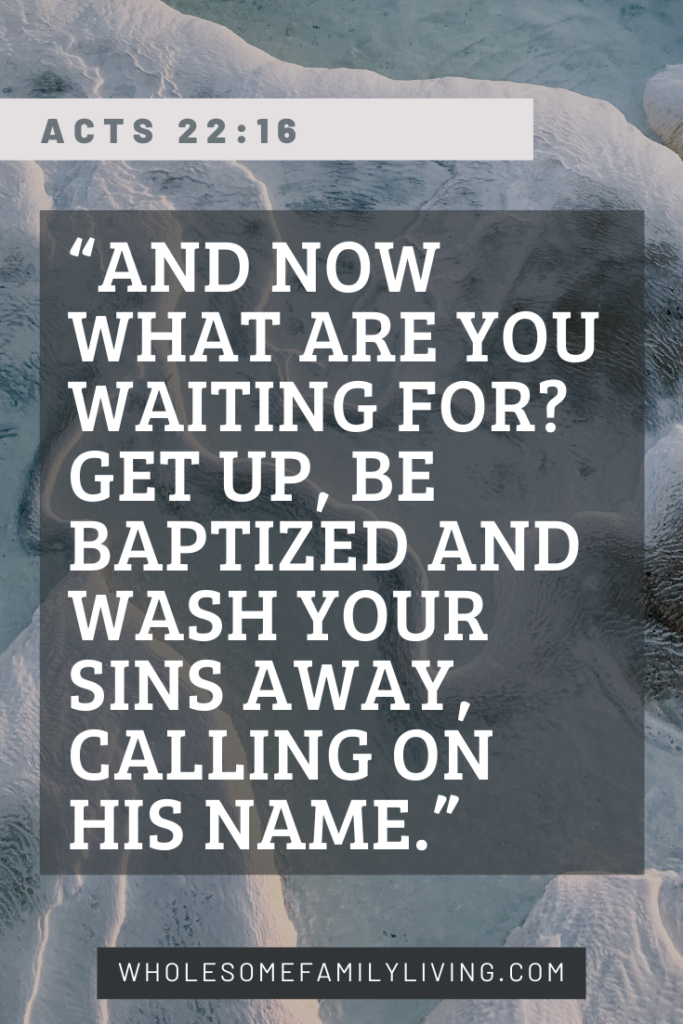 acts 22:16 be baptized