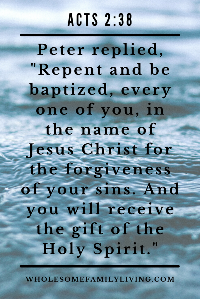 acts 2:38 repent and follow through with baptism
