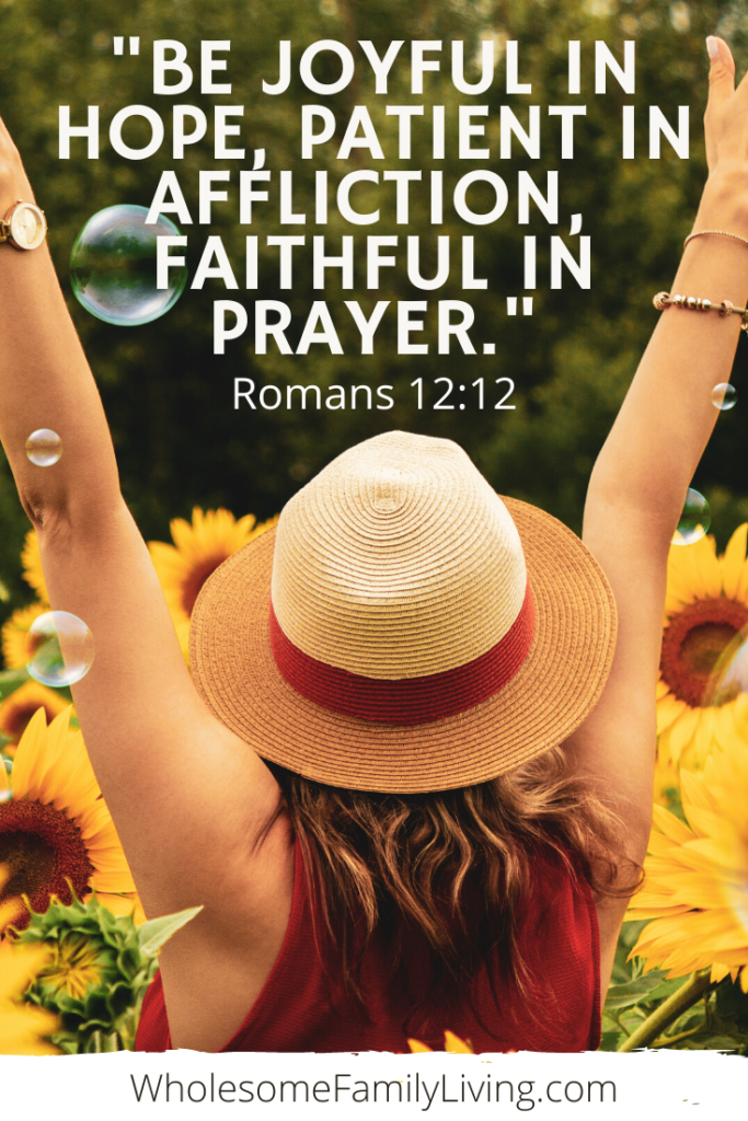 Pray for our world Romans 12:12