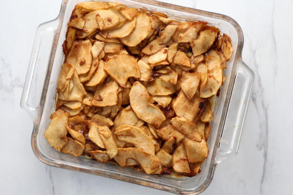 Pan of Apple Pie Bars
