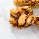 close up picture of individual apple pie bar