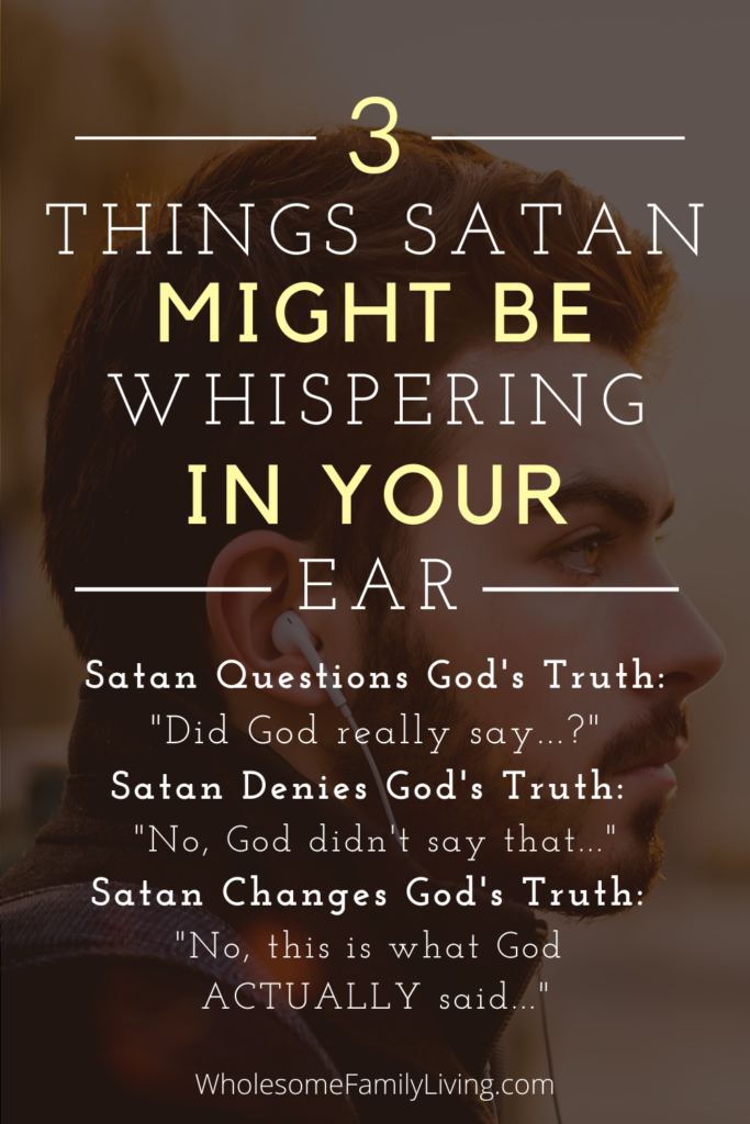 3 ways Satan deceives you pin with man in background