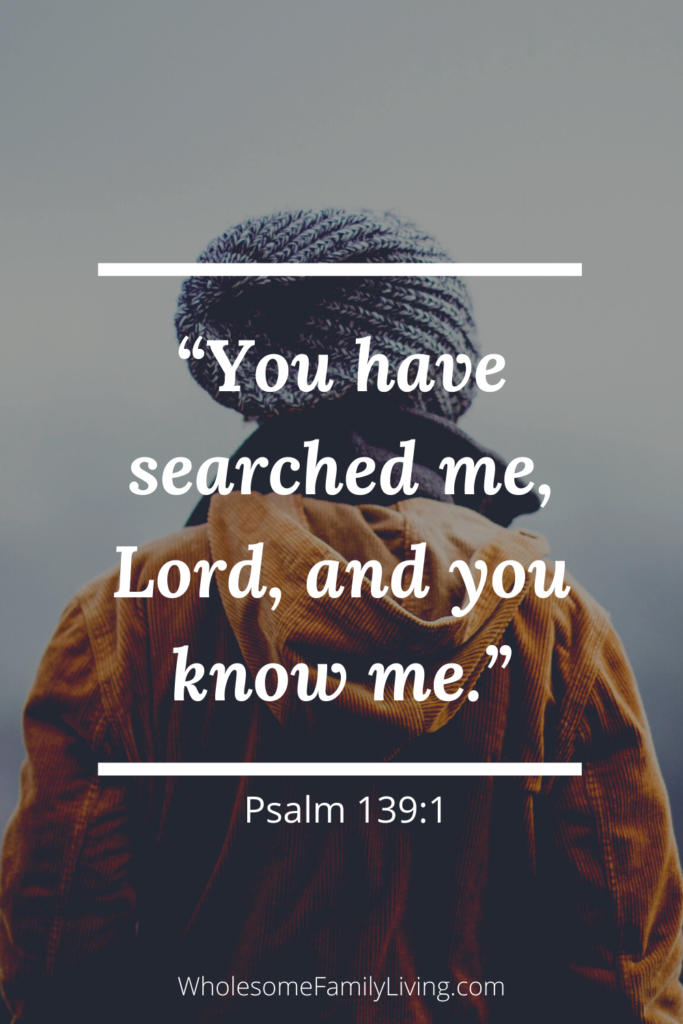 psalm 139:1 with back of person in the background