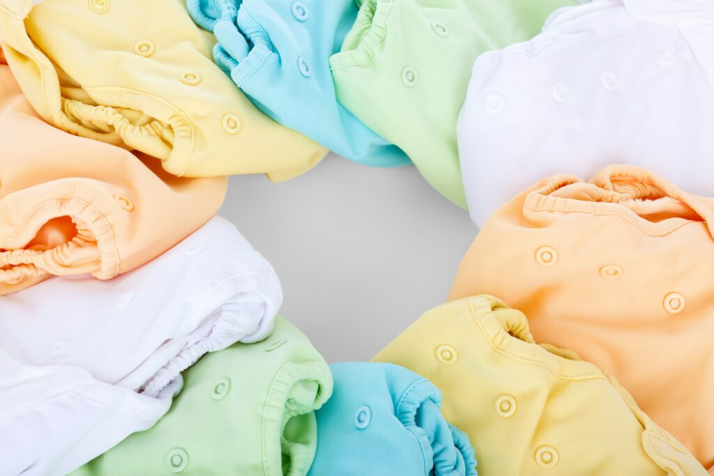 circle of cloth diapers