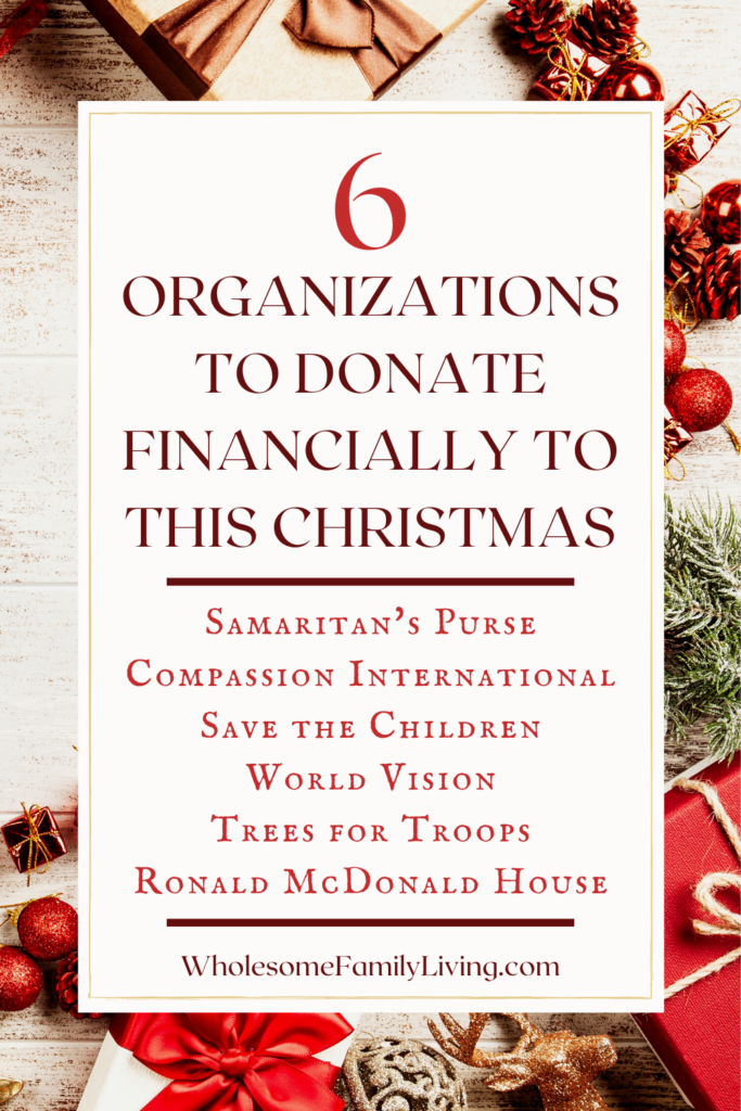 List of Organizations to Donate Financially To