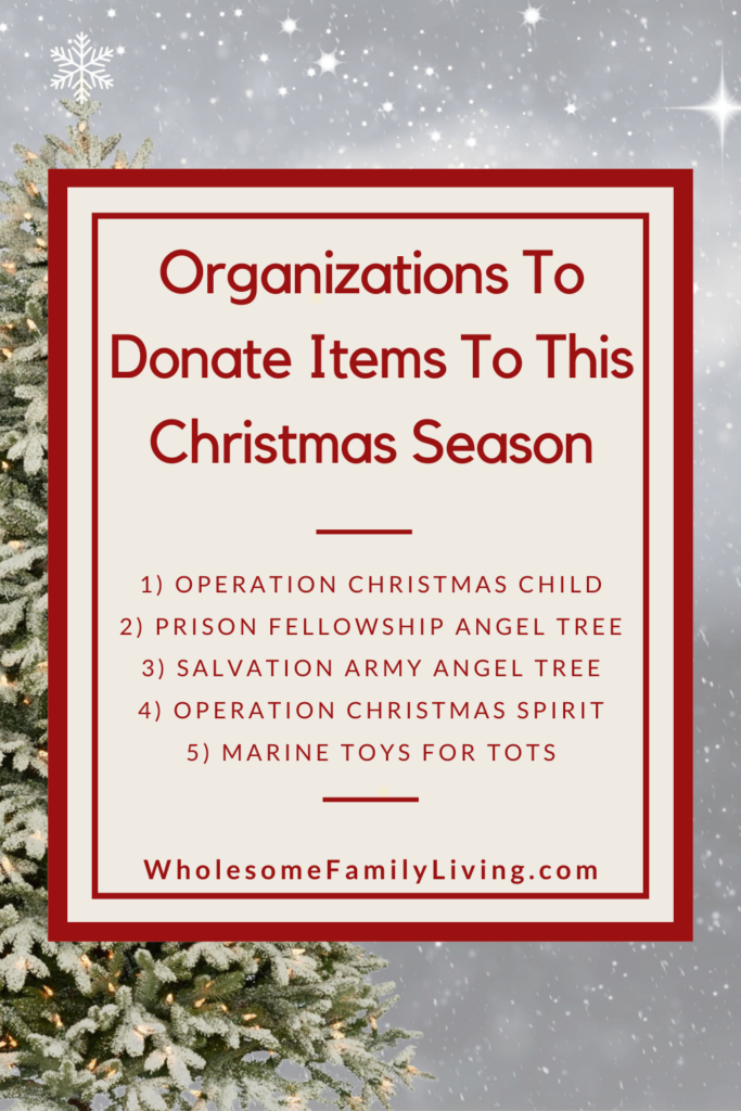 List of Organizations to Donate Items To