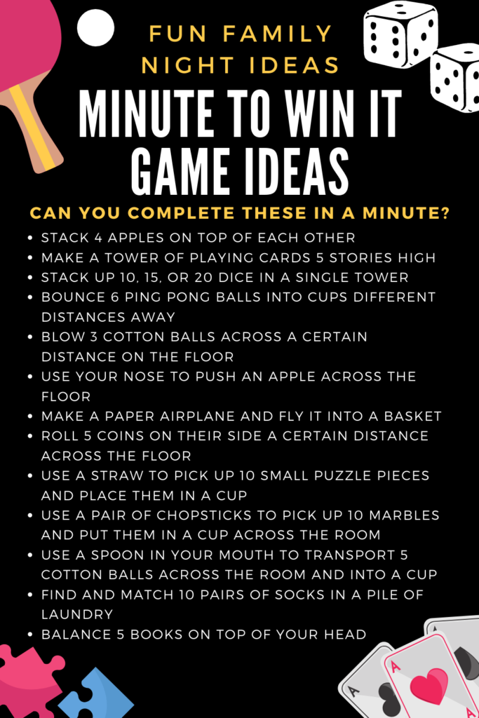 minute to win it ideas for a new year's eve at home