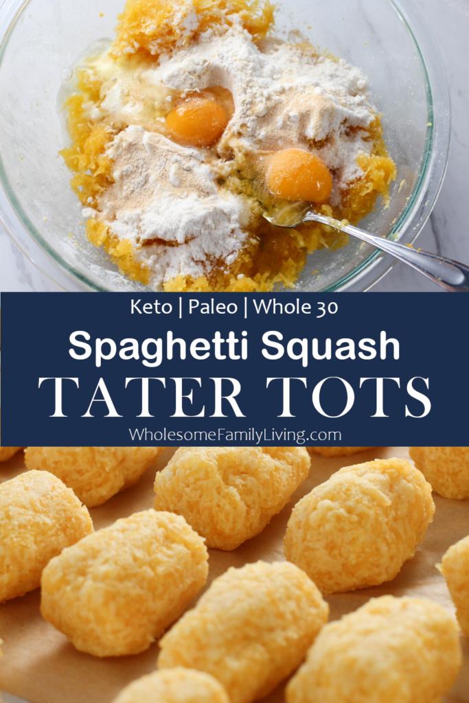 spaghetti squash tater tots pin