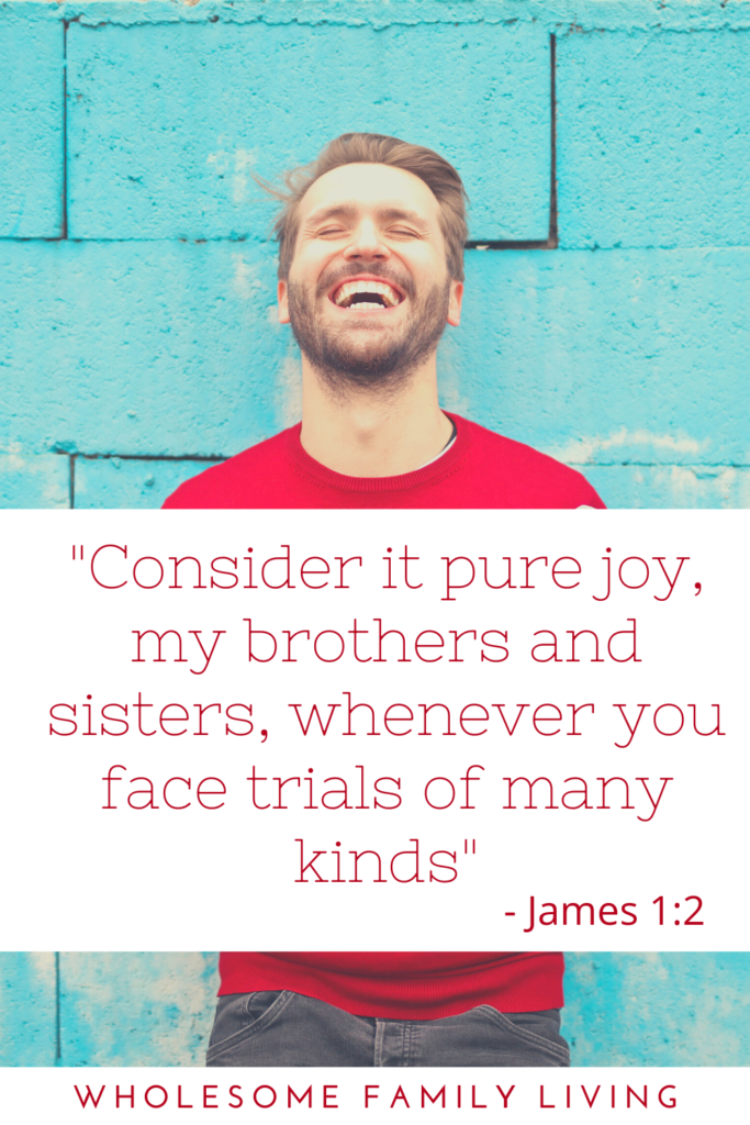 James 1:2 helps explain why bad things happen to good people