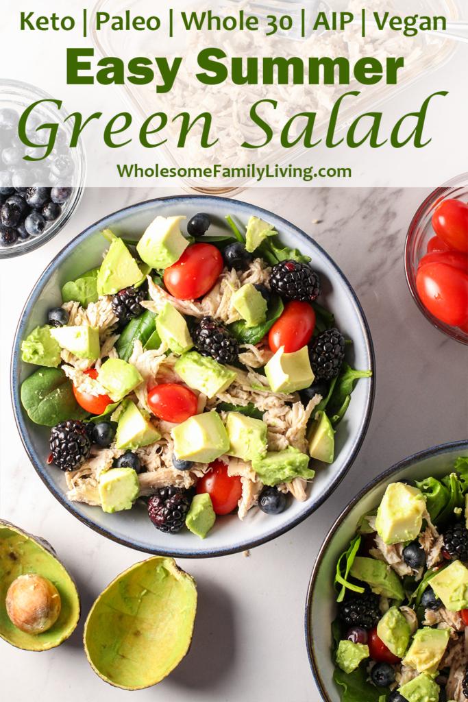 easy summer green salad pin