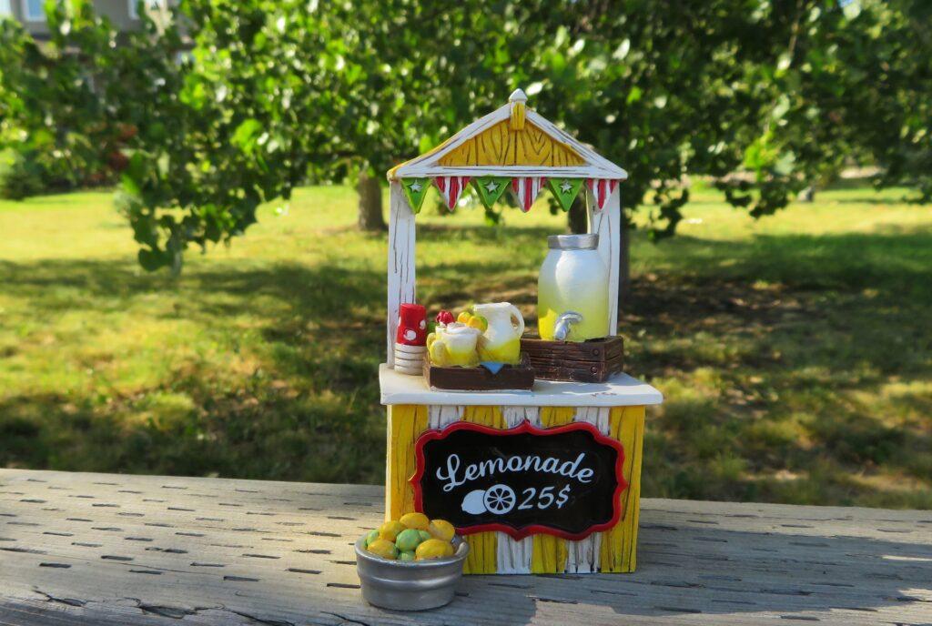 pretend lemonade stand